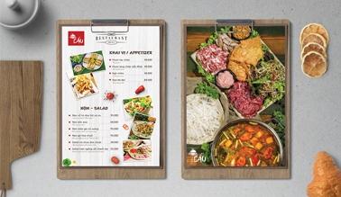 Dịch vụ thiết kế menu