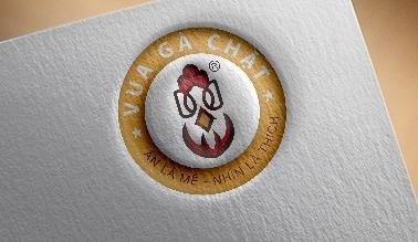 Thiết kế logo thương hiệu VUA GÀ CHẶT