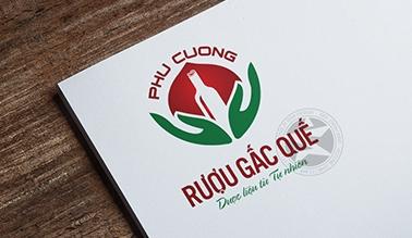 Thiết kế logo dược phẩm Rượu Gấc Quế Phú Cường