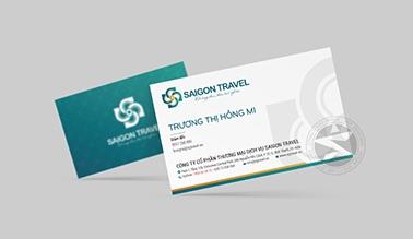 Thiết kế namcard du lịch Sài gòn Travel
