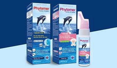 Thiết kế nhãn mác bao bì Bình xịt mũi trẻ em Phytomer