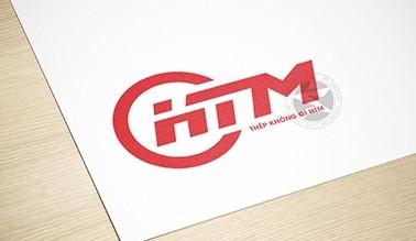 Thiết kế logo cơ khí thép không gỉ HTM